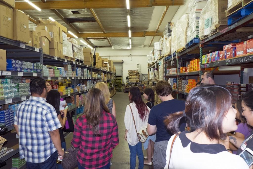Warehouse tour.