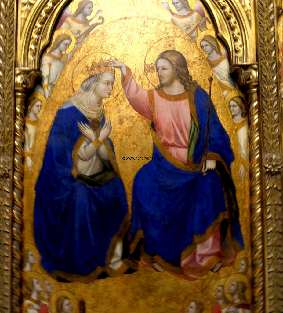 Mary's coronation as Queen of Heaven. 1444