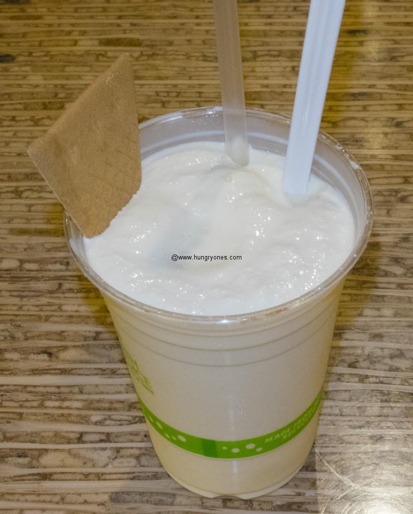 Extra thick vanilla shake.