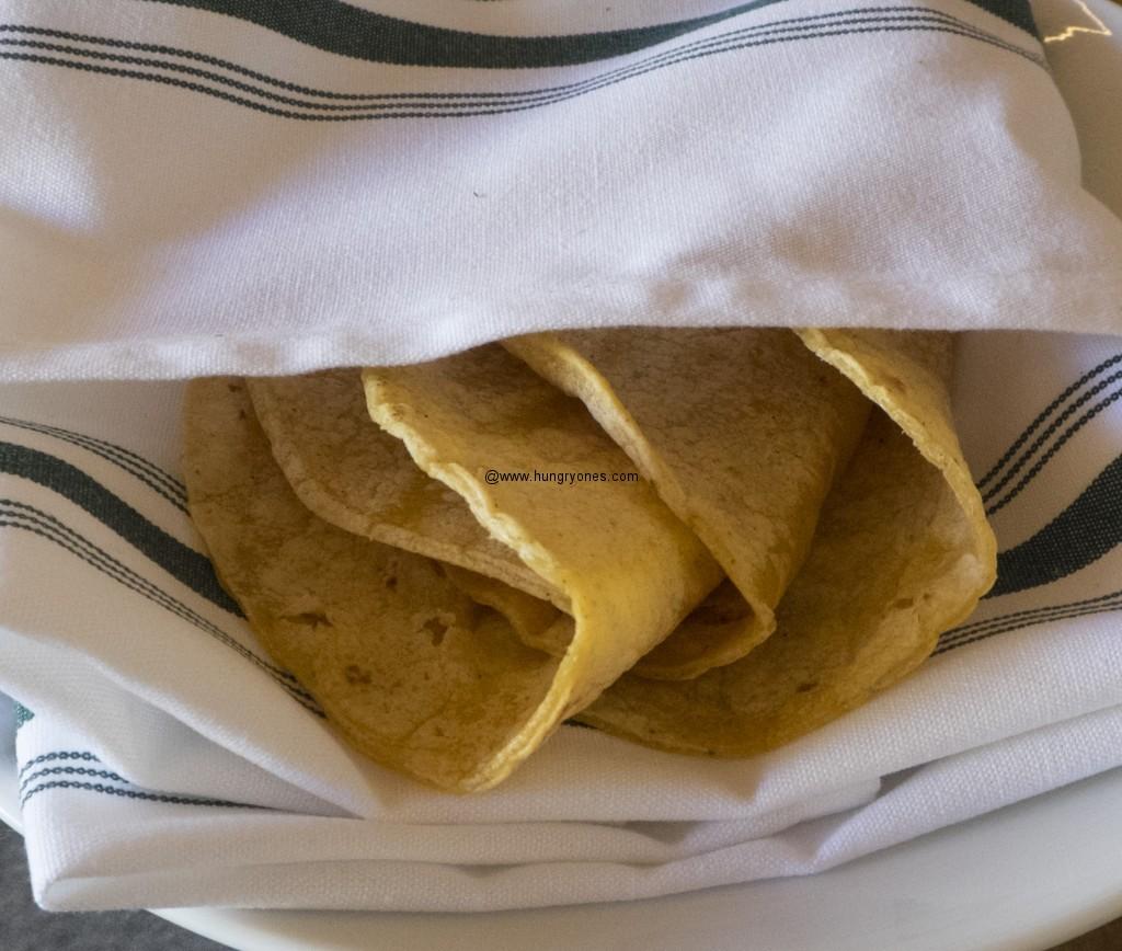 Corn tortillas.