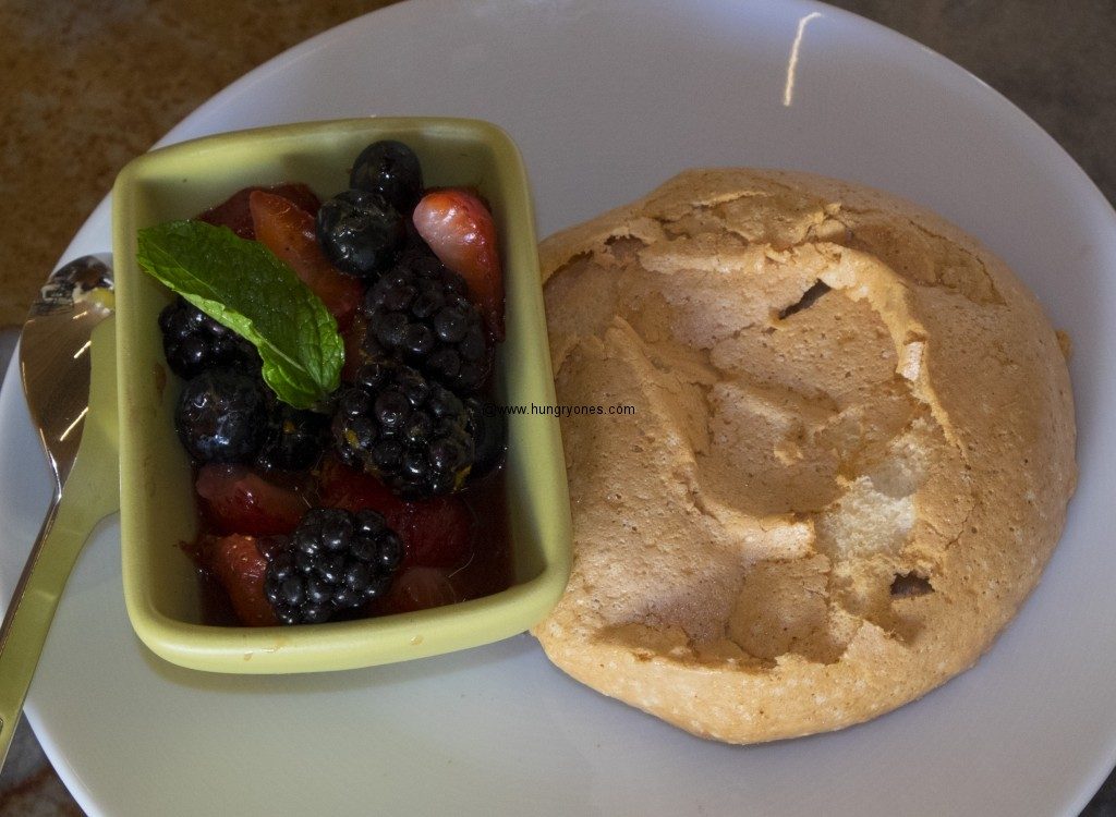 Pavlova with berries.
