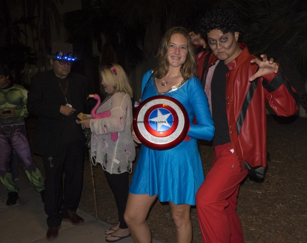 Captain America and M. J.