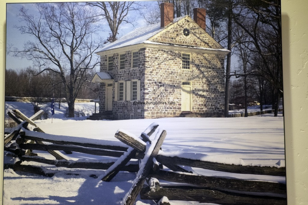 George Washington's Headquarters, Winter encampment. Valley Forge, Pennsylvania.