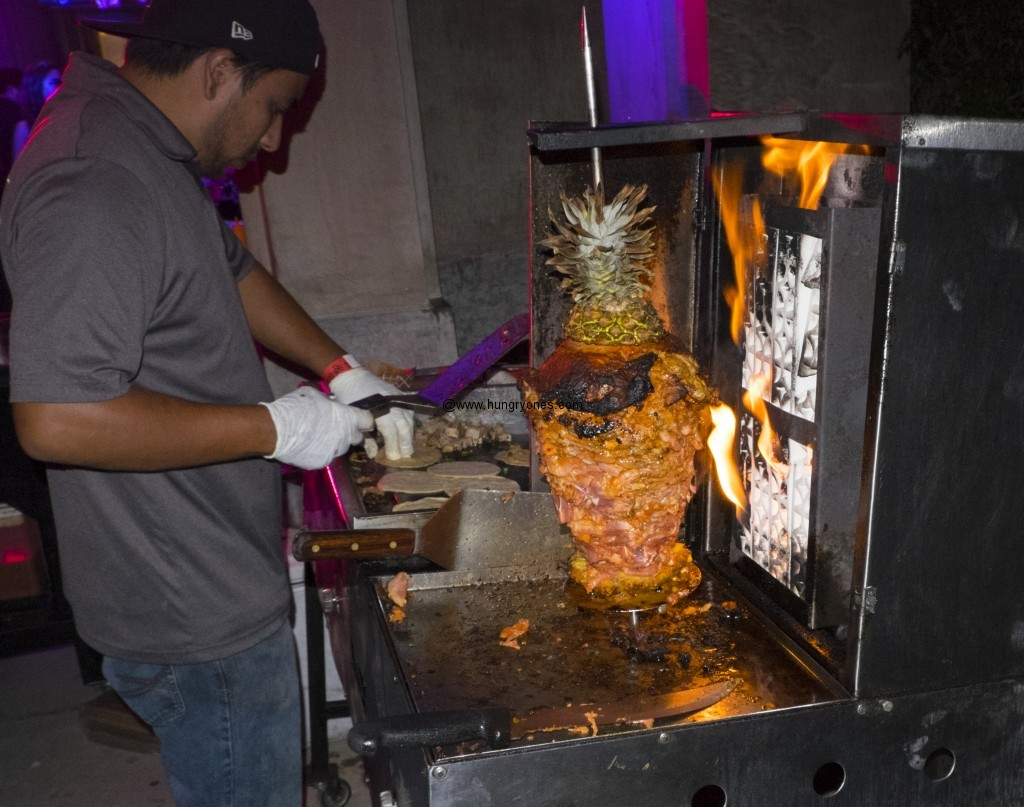 Senor Grubby's cooking up fresh pork.