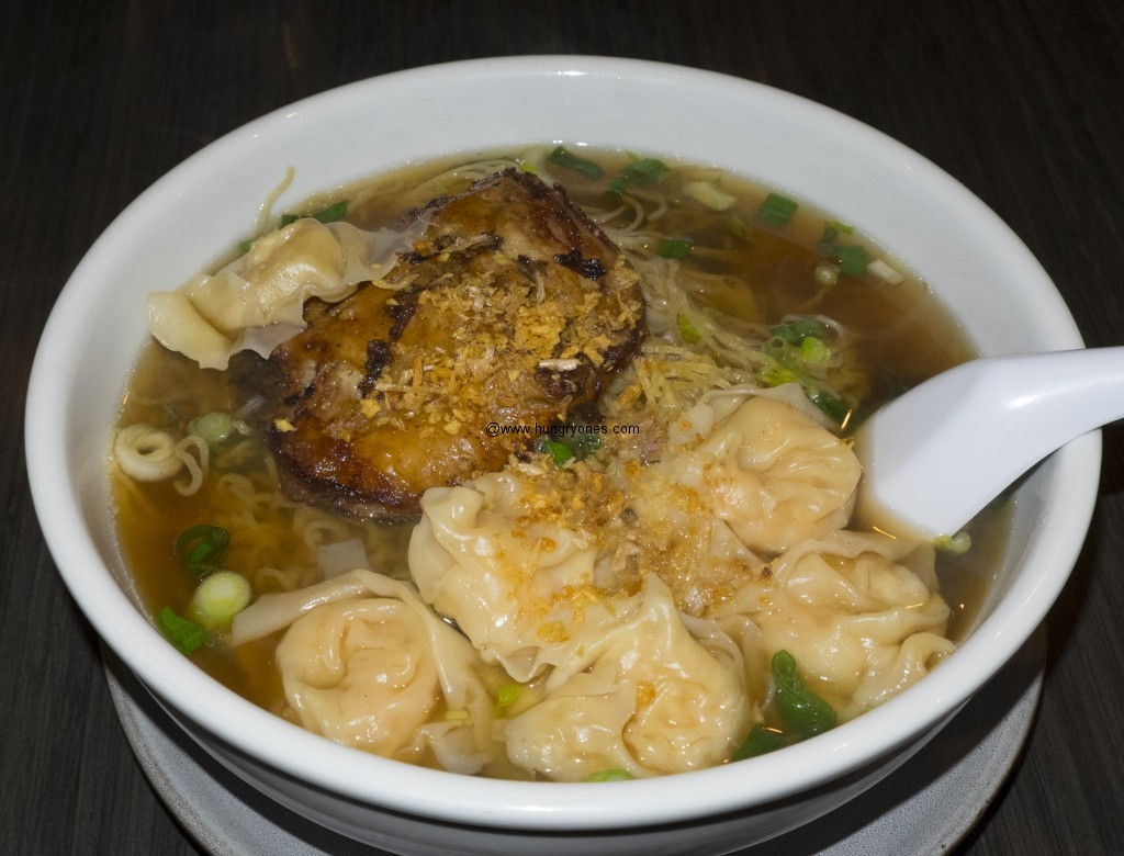 Won ton soup with duck.