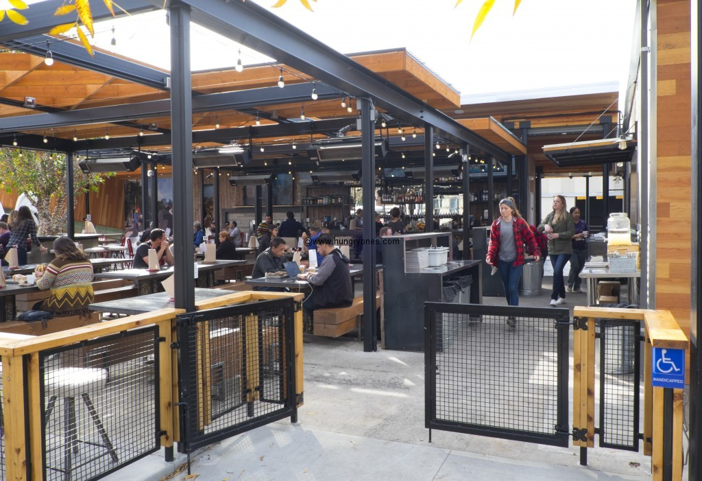 All outdoor seating.