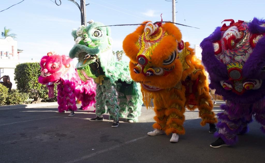 Lions dancing