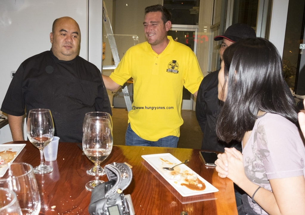 Gerry Torres with his chefs.