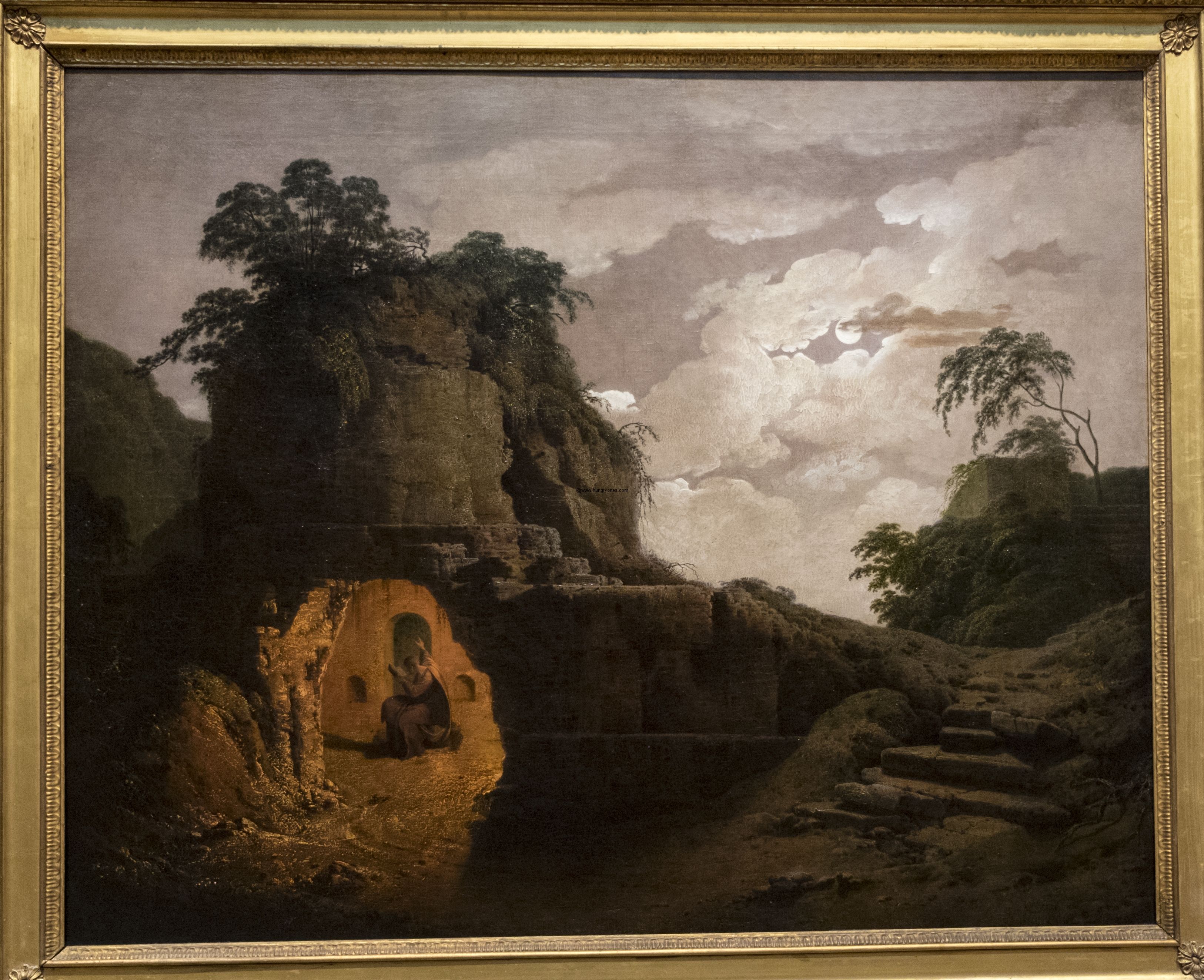Joseph Wright Virgil's Tomb by Moonlight, with Silius Italicus Declaiming 1779