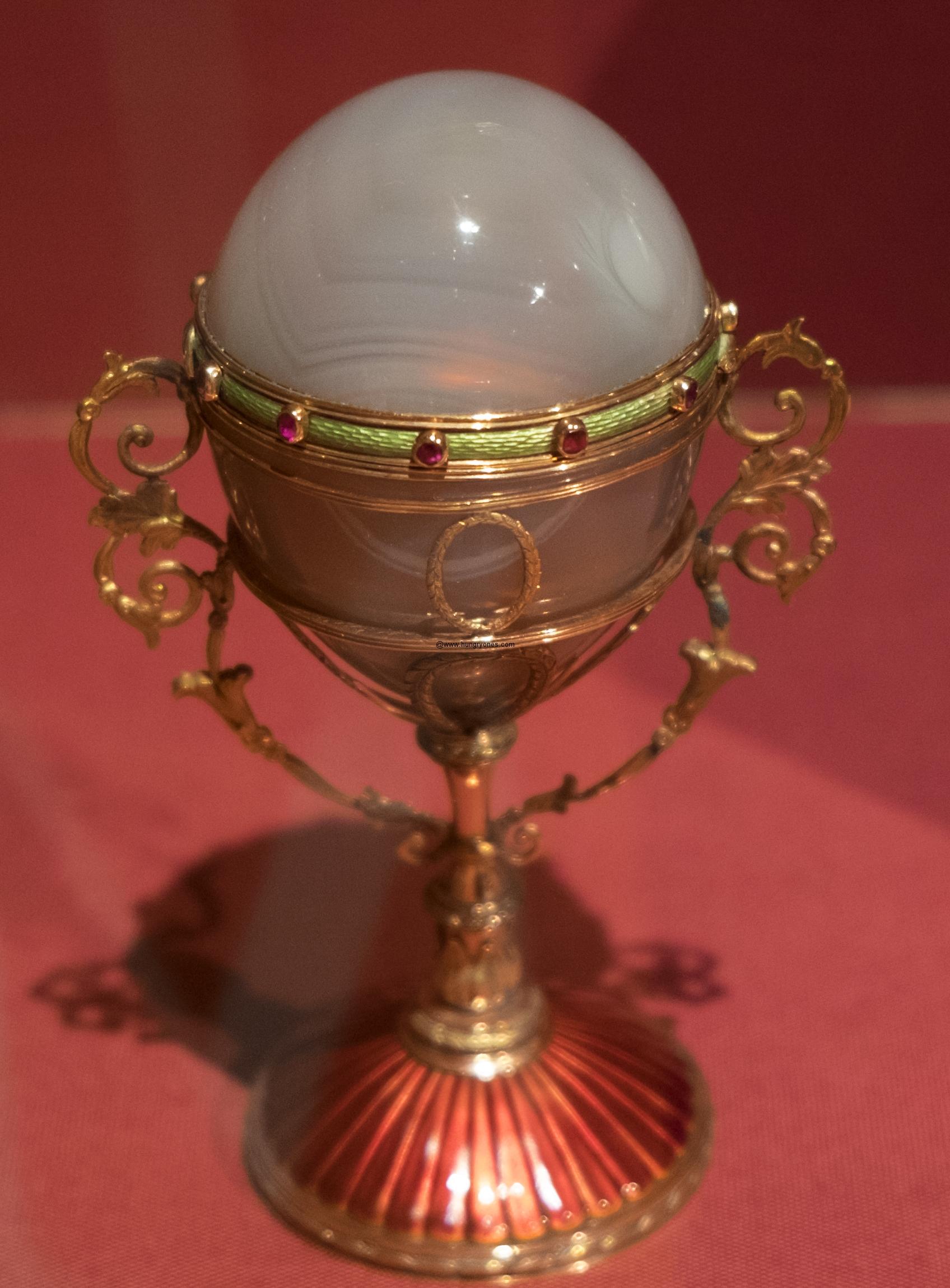 Oviform Perfume Flacon House of Faberge' Russian Saint Petersburg 1899-1908