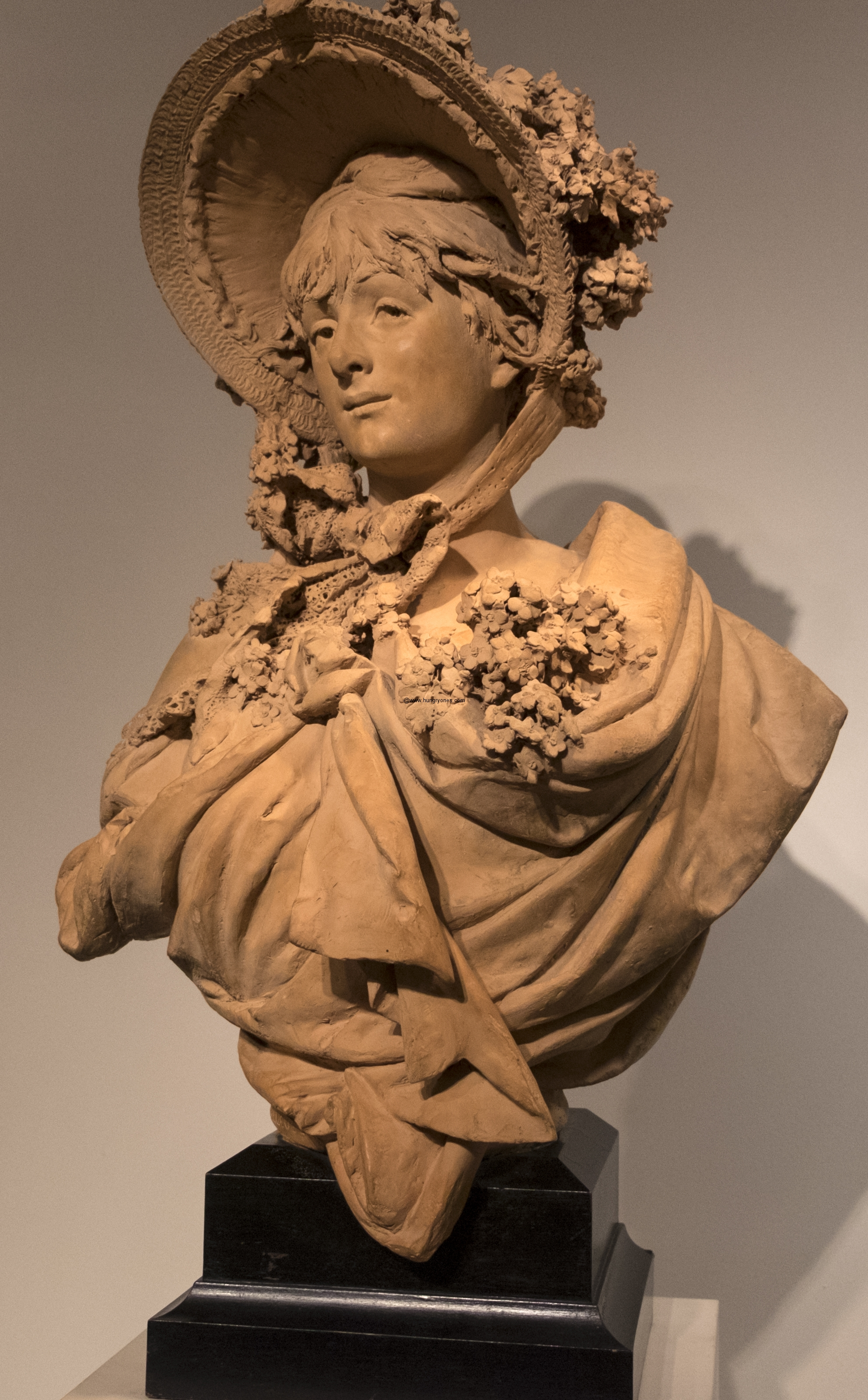 Girl In A Straw Bonnet Albert-Ernest Carrier-Belleuse 1824-1887 French (Paris) 1865-70